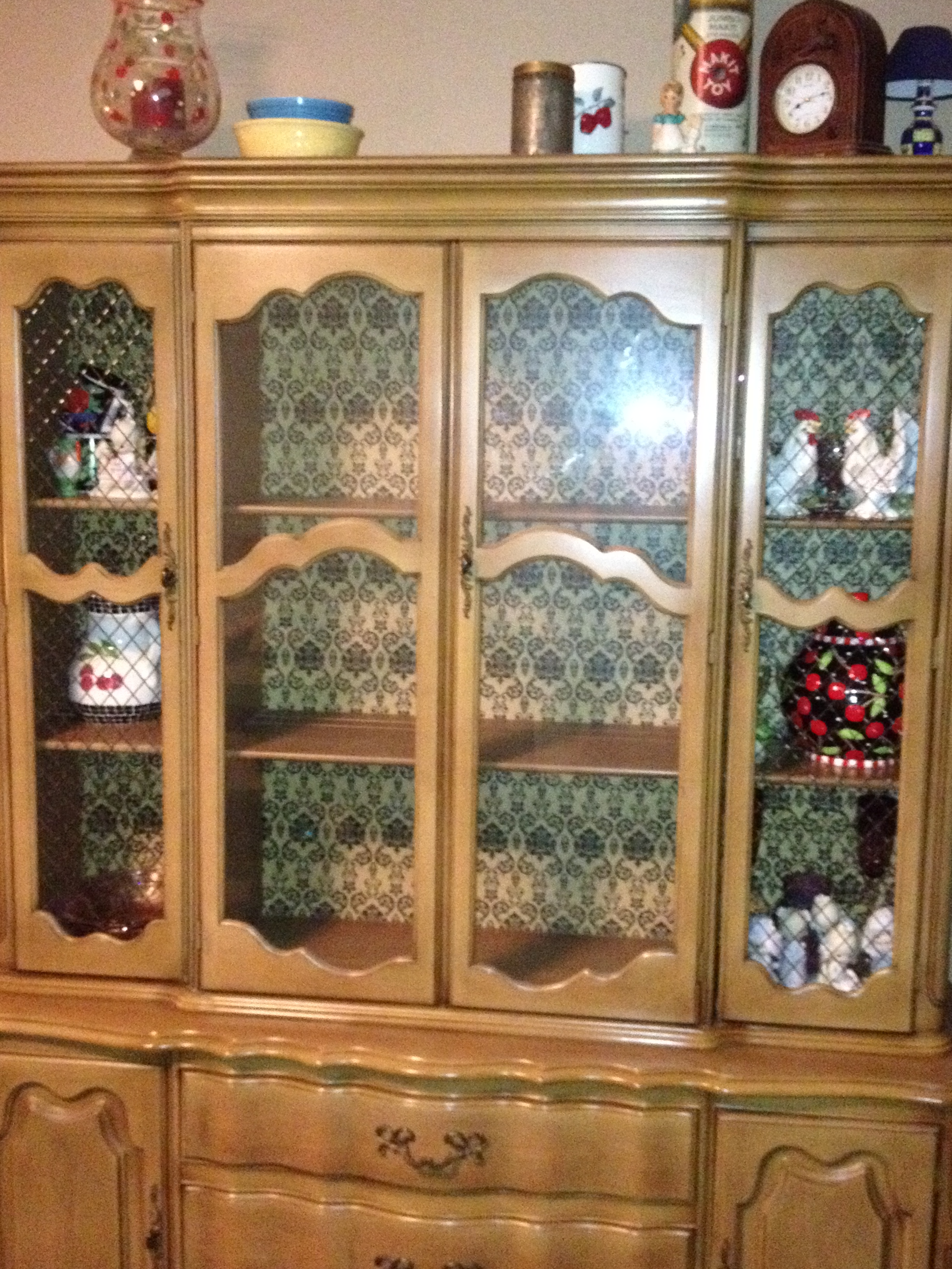 China Cabinet Update Sooooo Late I Know Teal Blue Cherry